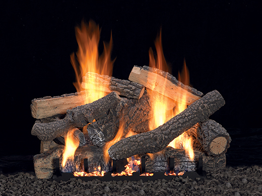 White Mountain Hearth Ponderosa gas logs.