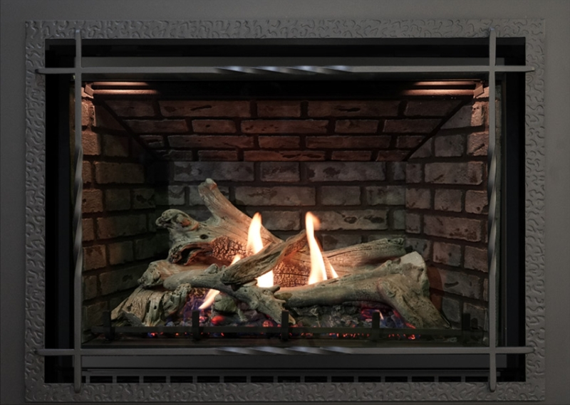 Archgard Sereno 37 direct vent gas fireplace insert.